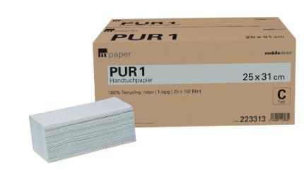 PUR1 Handtuchpapier V-Falz