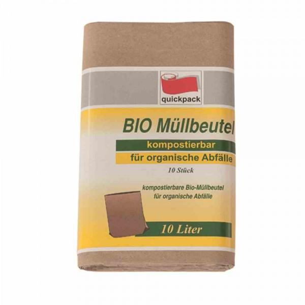 Bio - Abfallbeutel - Papier - 10 Liter
