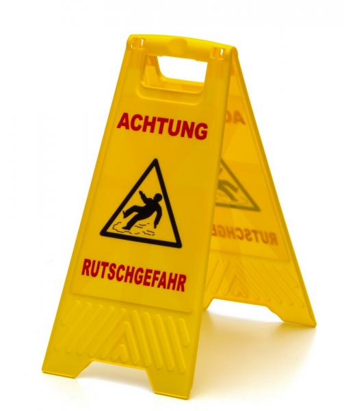 """Warnschild """"Achtung Rutschgefahr"""""""